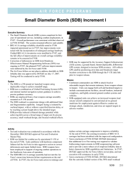 Small Diameter Bomb (SDB) Increment I