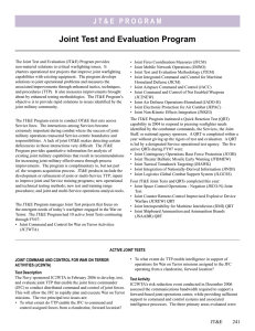 Joint Test and Evaluation Program