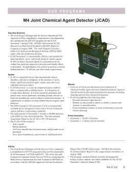 M4 Joint Chemical Agent Detector (JCAD)