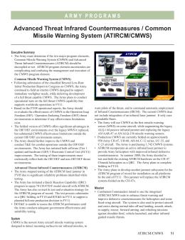 CBAT - AN/AAR-57 CMWS (GEN3) Flashcards | Quizlet