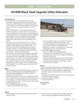 UH-60M Black Hawk Upgrade Utility Helicopter