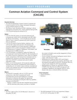 Common Aviation Command and Control System (CAC2S)
