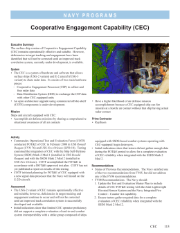Cooperative Engagement Capability (CEC)
