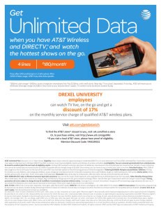 Unlimited  Data Get when you have AT&T Wireless s