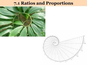 7.1 Ratios and Proportions