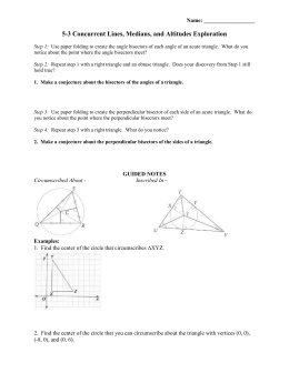 Geometry Points Of Concurrency Worksheet 008 - Geometry Points Of Concurrency Worksheet