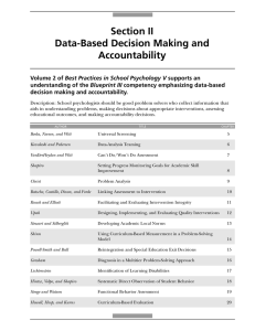 Section II Data-Based Decision Making and Accountability Best Practices in School Psychology V