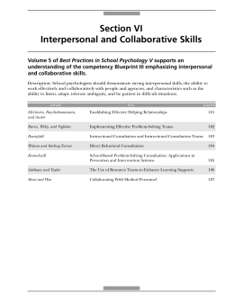 Section VI Interpersonal and Collaborative Skills