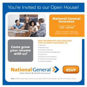 You're Invited to our Open House! National General Insurance Come grow