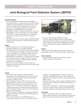 Joint Biological Point Detection System (JBPDS)