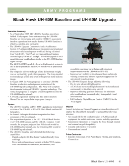 Black Hawk UH-60M Baseline and UH-60M Upgrade