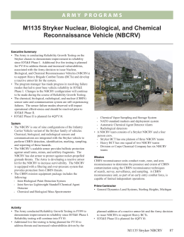 M1135 Stryker Nuclear, Biological, and Chemical Reconnaissance Vehicle (NBCRV)