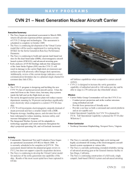 CVN 21 – Next Generation Nuclear Aircraft Carrier