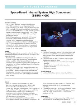 Space-Based Infrared System, High Component (SBIRS HIGH)