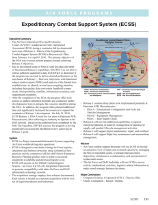 Expeditionary Combat Support System (ECSS)