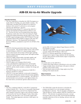 AIM-9X Air-to-Air Missile Upgrade