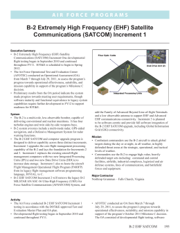 B-2 Extremely High Frequency (EHF) Satellite Communications (SATCOM) Increment 1