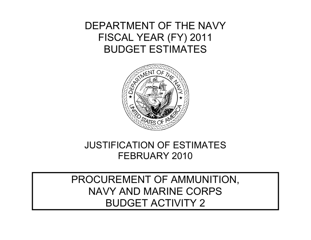 DEPARTMENT OF THE NAVY FISCAL YEAR (FY) 2011 BUDGET