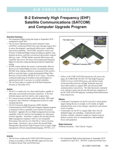 B-2 Extremely High Frequency (EHF) Satellite Communications (SATCOM