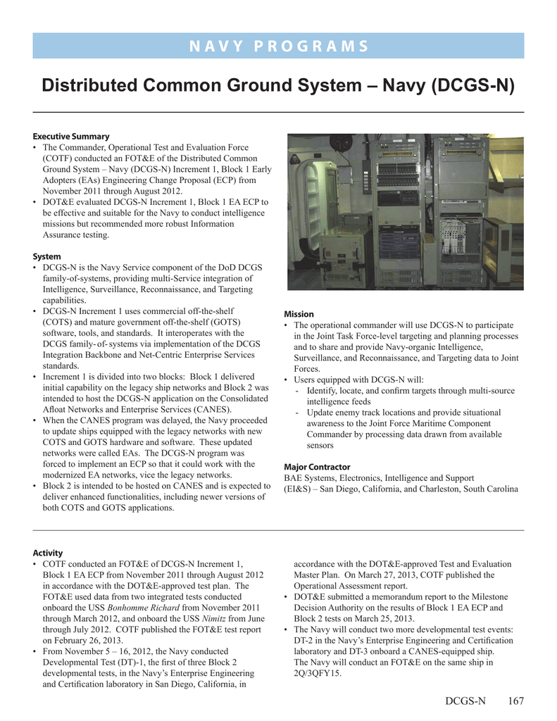 Distributed Common Ground System – Navy (DCGS‑N)