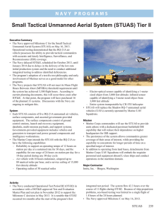 Small Tactical Unmanned Aerial System (STUAS) Tier II