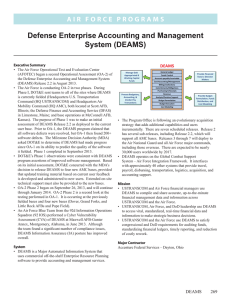 Defense Enterprise Accounting and Management System (DEAMS)