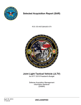 Jltv In Action >> Joint Light Tactical Vehicle (JLTV)