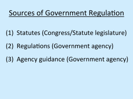 Sources	of	Government	Regula3on