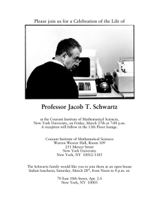Professor Jacob T. Schwartz