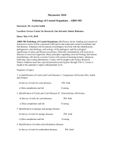 Maymester 2010 Pathology of Coastal Organisms – ABIO 583