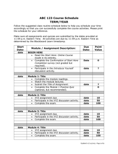 ABC 123 Course Schedule TERM/YEAR