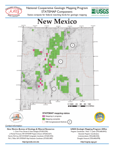 New Mexico National Cooperative Geologic Mapping Program STATEMAP Component: