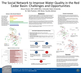 The Social Network to Improve Water Quality in the Red