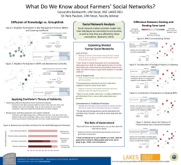 What Do We Know about Farmers' Social Networks? NSF LAKES REU