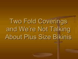 Two Fold Coverings and We're Not Talking About Plus Size Bikinis