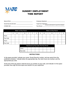SUNDRY EMPLOYMENT TIME REPORT