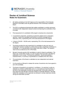 Doctor of Juridical Science Notes for Examiners