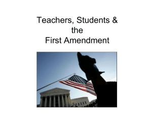 Teachers, Students & the First Amendment