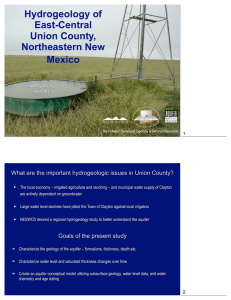 Hydrogeology of East-Central Union County,