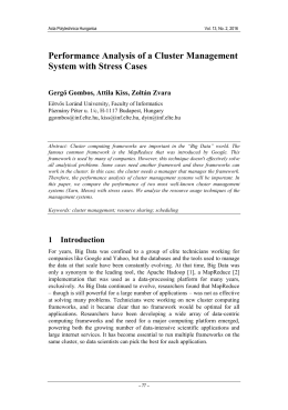 Performance Analysis of a Cluster Management System with Stress Cases