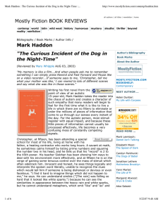 Mark Haddon : The Curious Incident of the Dog in...