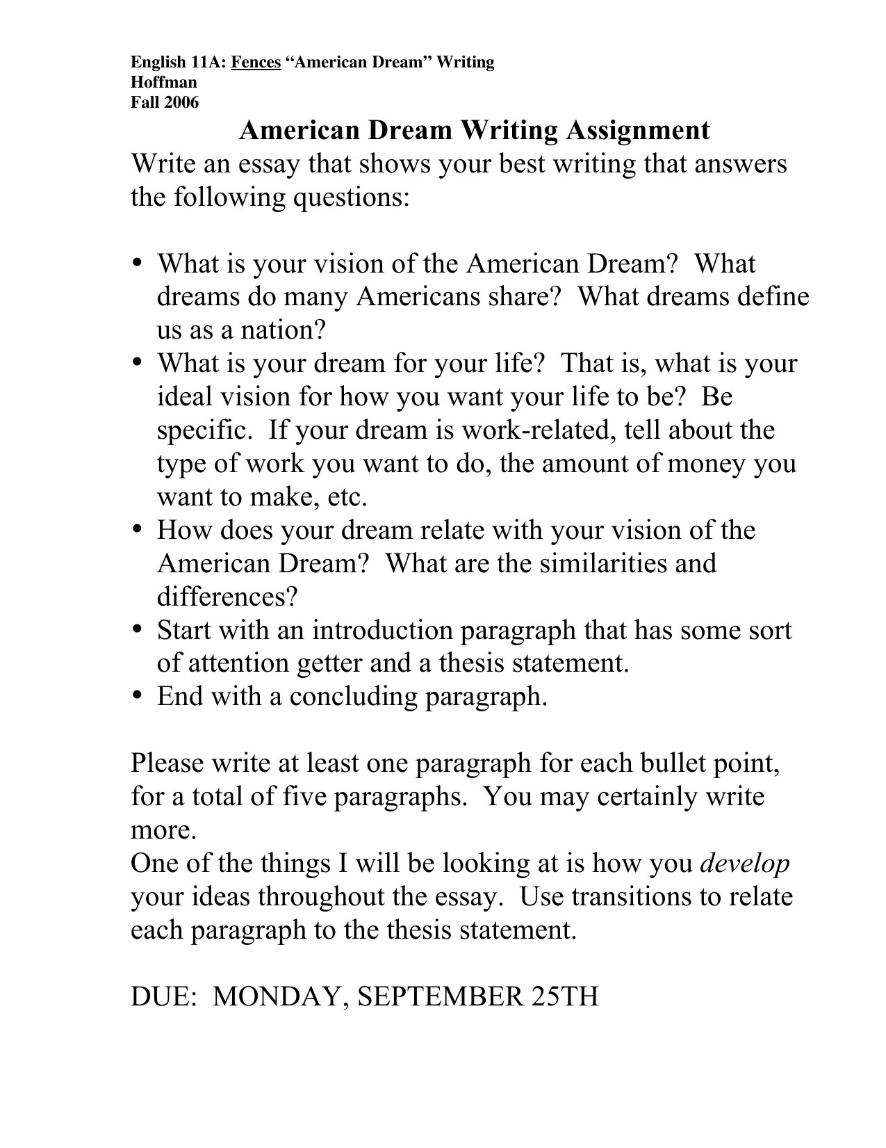 essay about the american dream corruption of the american dream in