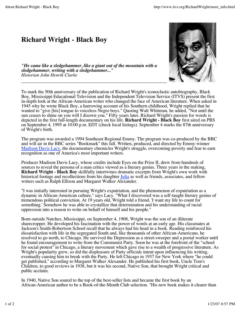 Richard Wright - Black Boy