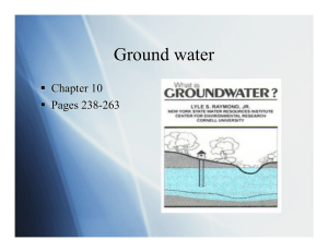 Ground water   Chapter 10   Pages 238-263