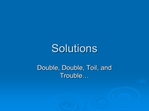 Solutions Double, Double, Toil, and Trouble…