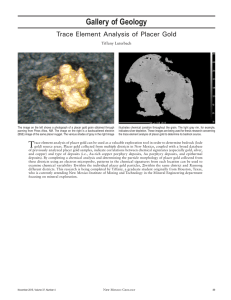 Gallery of Geology Trace Element Analysis of Placer Gold Tiffany Luterbach