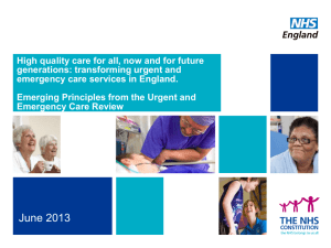High quality care for all, now and for future