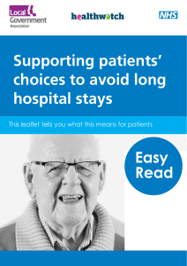 Supporting patients' choices to avoid long hospital stays Easy