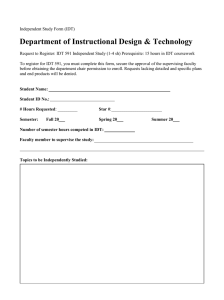 Department of Instructional Design & Technology