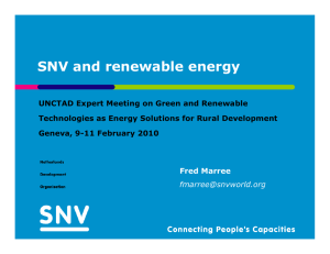 SNV and renewable energy